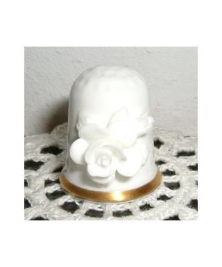 White rose affixed