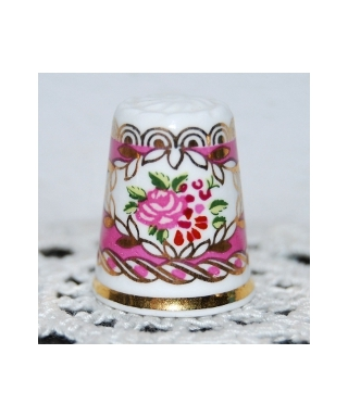 Pink flowers in cameo