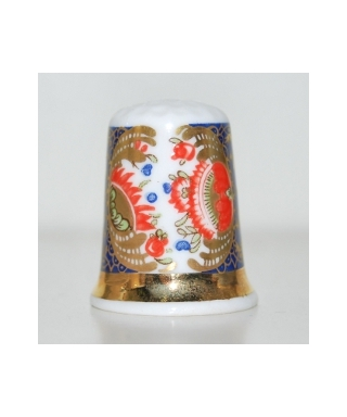 Blue and gold panelled imari
