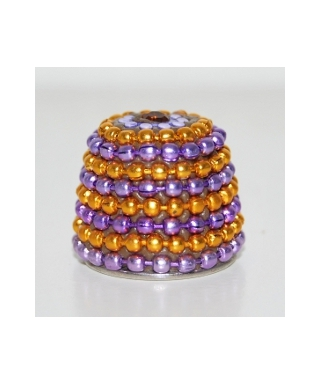 Orange and violet beaded