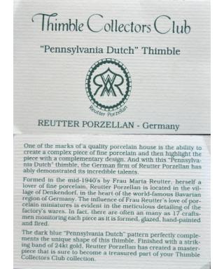 Pennsylvania Dutch - certyfikat (TCC)