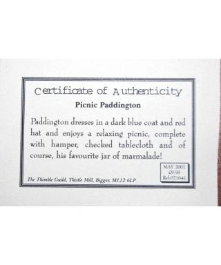 Paddington - certificate
