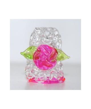 Szklany z kwiatkiem