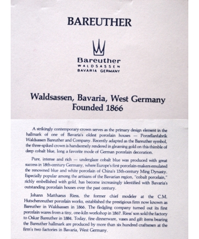 Bareuther - certificate