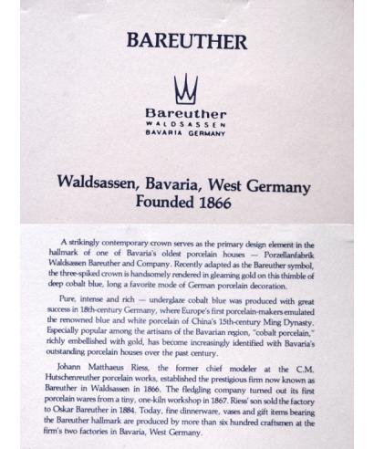 Bareuther - certyfikat
