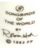 Songbirds Of The World - Franklin Porcelain