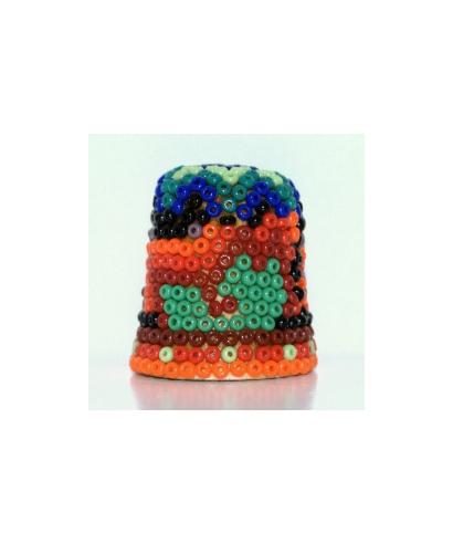 Thimble made of beads