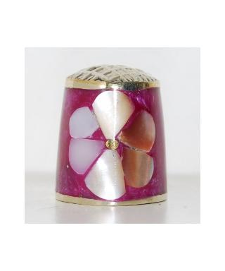 Mother-of-pearl violet flower