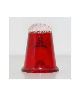 Red glass millefiori thimble