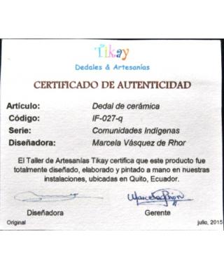 Rdzenni ekwadorczycy - certyfikat