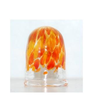 Pomarańczowy szklany