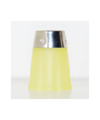 Yellow flexible rubber thimble
