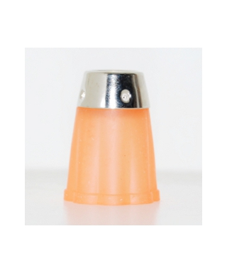 Orange flexible rubber thimble
