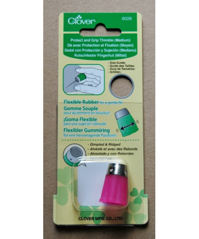 Clover (pink flexible rubber thimble) - box