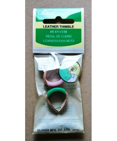 Clover (skórzane naparstki z plastikowymi nakładkami) - pudełko