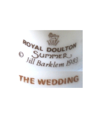 Royal Doulton Summer 1983 THE WEDDING
