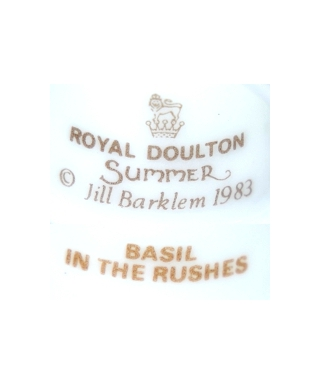 Royal Doulton Summer 1983 BASIL IN THE RUSHES