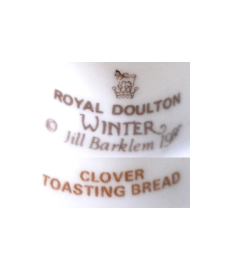 Royal Doulton Winter 1983 CLOVER TOASTING BREAD