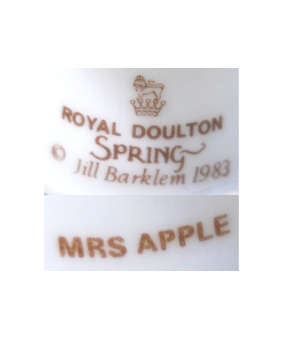 Royal Doulton Spring 1983 MRS APPLE