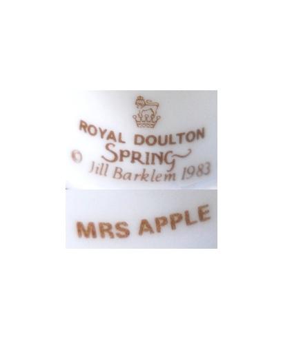 Royal Doulton Spring 1983 MRS APPLE
