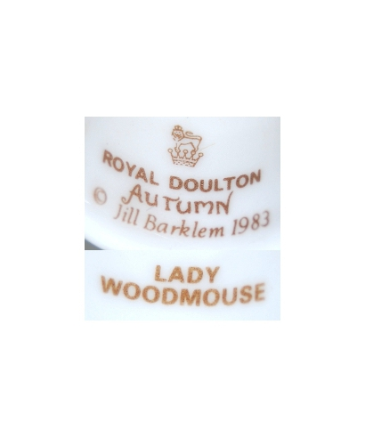 Royal Doulton Autumn 1983 LADY WOODMOUSE