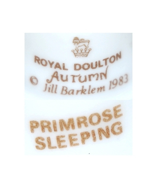 Royal Doulton Autumn 1983 PRIMROSE SLEEPING