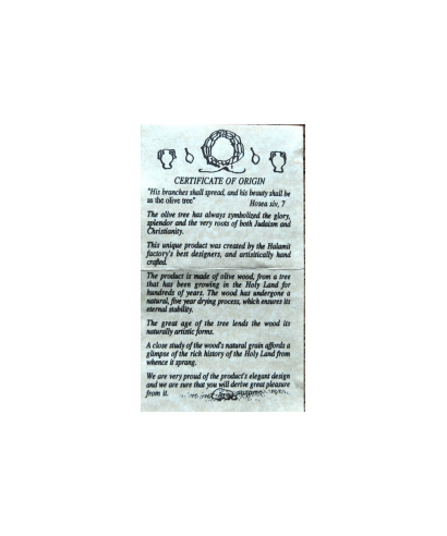 Oliwkowe naparstki - certyfikat