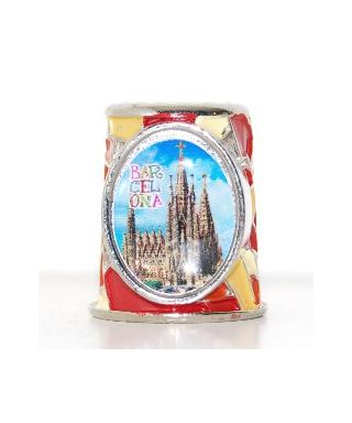 Barcelona czerwona mozaika