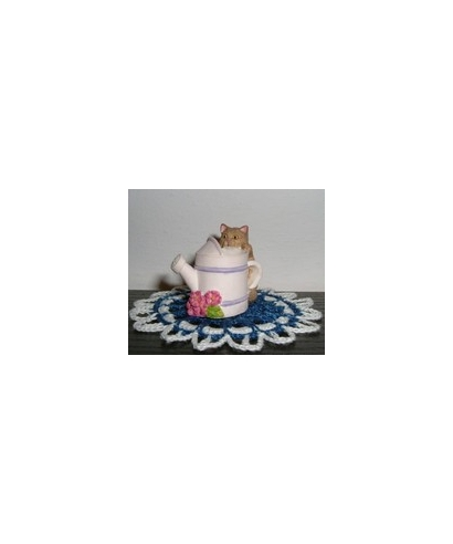 Cat with a watering pot