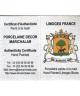 Naparstki Limoges Marichalar - certyfikat