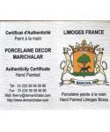 Thimbles of Limoges Marichalar - certificate