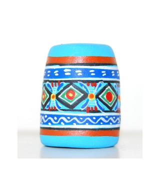 Niebieski meksykański wzór