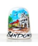 Kamienice w Sandomierzu ręcznie malowany