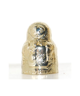 Metal matryoshka golden