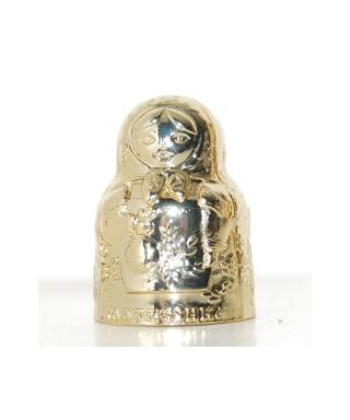 Metalowa matrioszka złota