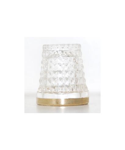 Kryształ ze złotą opaską