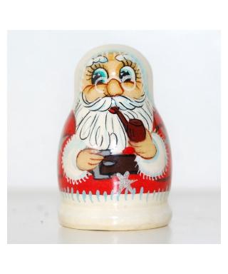 Święty Mikołaj palący fajkę