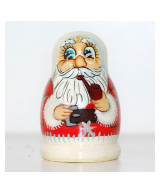Santa Claus smoking a pipe