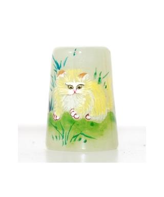 Zielony żad z kotkiem