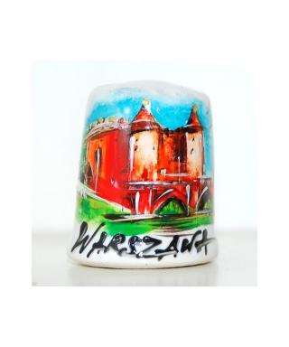 Barbakan w Warszawie ręcznie malowany