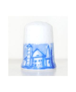 Planeta De Agostini biały z niebieskimi domami