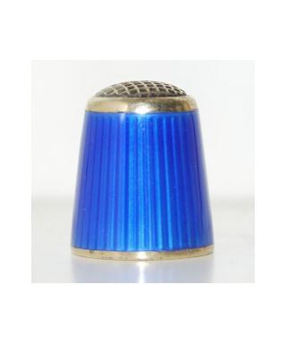 Srebrny emaliowany niebieski