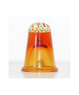 Bursztynowy szklany naparstek millefiori