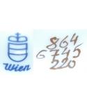 [crown] [shield] Wien 864 6745 220 (Augarten)