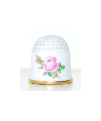 Pink rose with gold rim