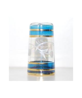 Wysoki szklany niebieski