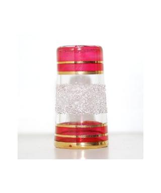 Wysoki szklany czerwony
