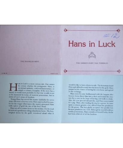 Hans in Luck - certificate