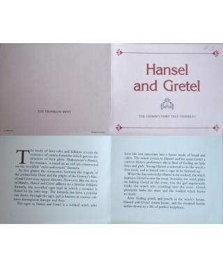 Hansel and Gretel - certificate