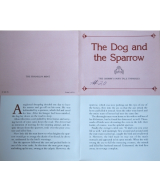 The Dog and the Sparrow - certificate